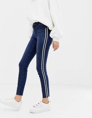 Only Pearl side panel skinny jeans