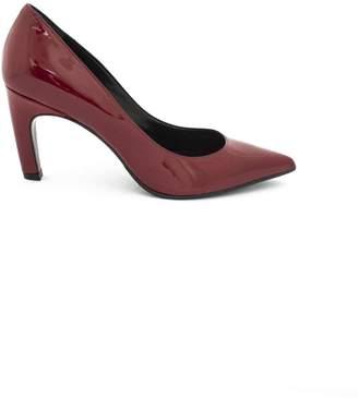 Aldo Castagna Decollete In Red Patent Leather.
