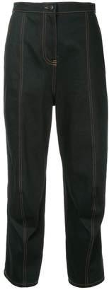 Zambesi contrast hem cropped trousers