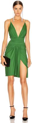 Alexandre Vauthier Stretch Jersey Mini Dress in Moss | FWRD