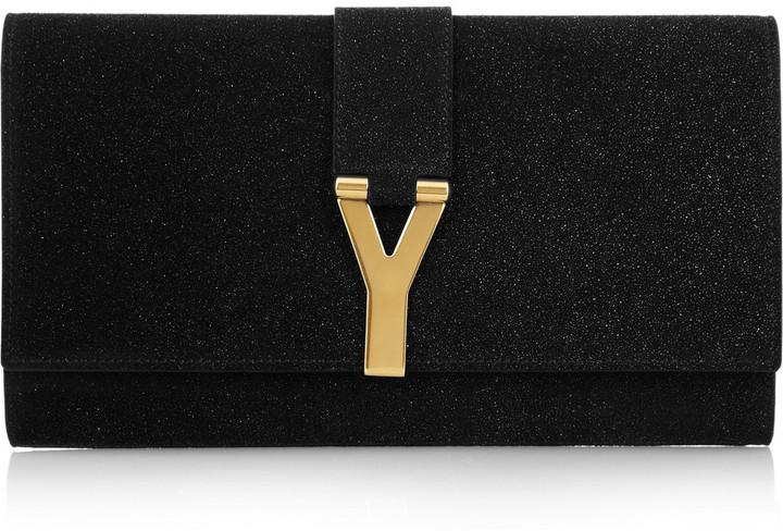 Yves Saint Laurent Chyc quartz-embellished clutch