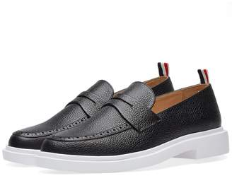 Thom Browne White Sole Pebble Grain Loafer