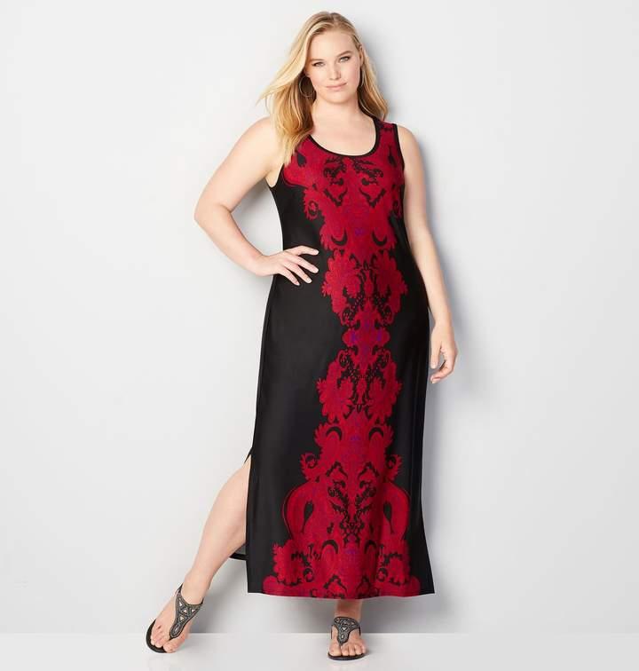 Damask Maxi Dress