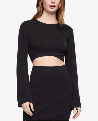 BCBGeneration Cotton Wrap Cropped Top