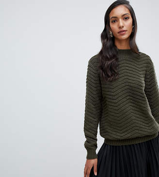 Y.A.S Tall Textured Knitted High Neck Sweater