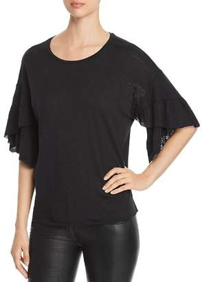 Elan International Ruffle-Sleeve Tee
