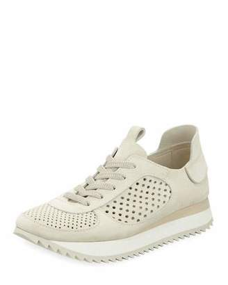 Pedro Garcia Omega Perforated Runner Sneakers, Chalk