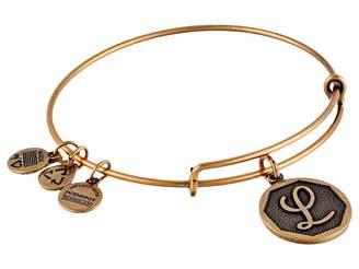 Alex and Ani Initial L Charm Bangle Bracelet