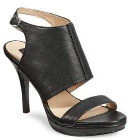 DKNY Bren Leather Ankle-Strap Sandals