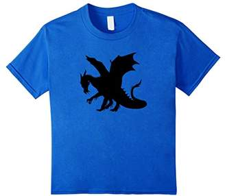 American Heritage Sleek Hunting Dragon Shadow Graphic Print T-Shirt