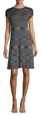 M Missoni Spacedye Knit A-Line Dress