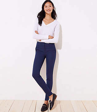 LOFT Petite Petal Skinny Ankle Pants in Marisa Fit