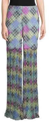 Caroline Constas Summer Sheered Palazzo Pants