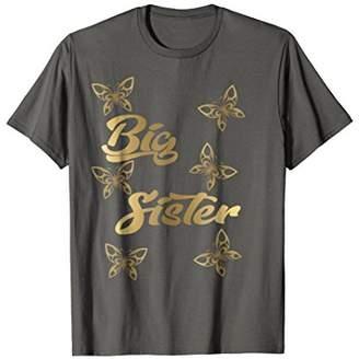 Big Sister Shirt Cute Butterflies Butterfly Sibling T-shirt