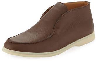 Loro Piana Open Walk Leather Slip-On Sneaker