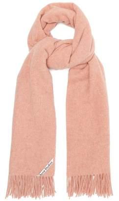 Acne Studios Canada Fringed Wool Scarf - Womens - Pink