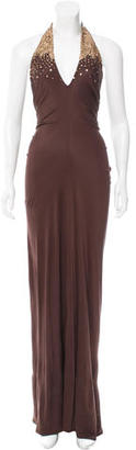Vera Wang Embellished Maxi Dress w/ Tags $150 thestylecure.com