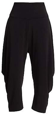 Issey Miyake Women's Draped Jersey Capri Pants
