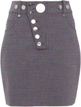 Alexander Wang Snap Detail High Waist Mini Skirt