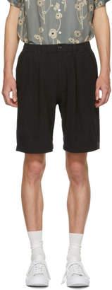Saturdays NYC Black Keigo Crepe Shorts