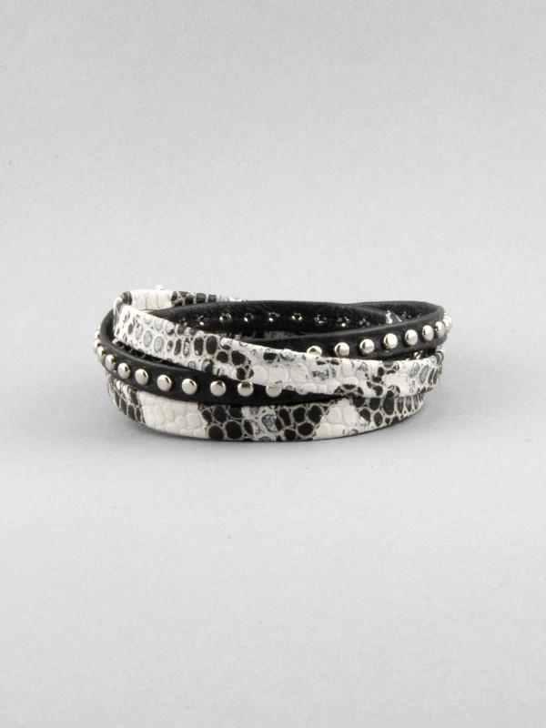 Alexandra Beth Designs Snakeskin Leather Wrap Bracelet