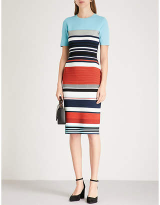 Diane von Furstenberg Striped knitted midi dress