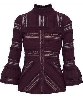 Cinq à Sept Martine Ruffled Cotton-Blend Lace Blouse