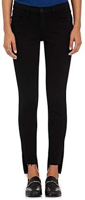 Frame Women's Le Skinny De Jeanne Raw Stagger Jeans - Black