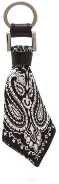 Amiri Bandana Key Ring - Mens - Black White