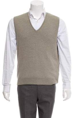 Giorgio Armani Virgin Wool Knit Sweater Vest