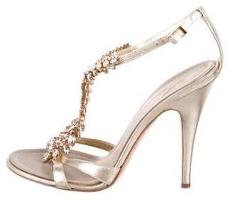 Giuseppe Zanotti Metallic Crystal Sandals
