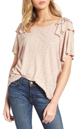 Women's Current/elliott The Roadie Ruffle Tee $138 thestylecure.com