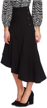 Vince Camuto Asymmetrical Button-Up Skirt