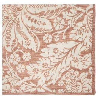 D'Ascoli Set Of Four Garden Floral Print Cotton Napkins - Brown Multi
