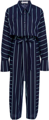 Palmer Harding palmer/harding palmer//harding Solo Striped Cotton-Poplin Jumpsuit