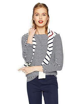 J.Crew Mercantile Women's Long-Sleeve Striped Boatneck T-Shirt,XS