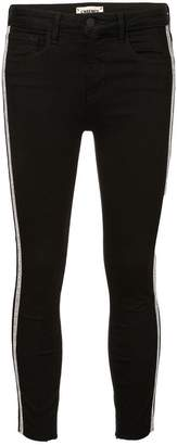 L'Agence side tripe skinny trousers