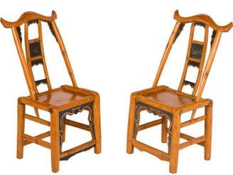 Mini A Ture Pair of Miniature Wood Chairs