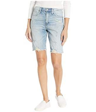 Silver Jeans Co. Women's Frisco Vintage High Rise Knee Shorts, Light