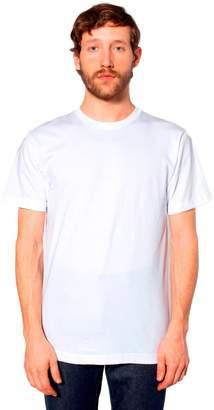 American Apparel Unisex Fine Jersey Short Sleeve T-Shirt, Heather Grey