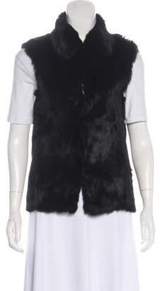 Adrienne Landau Fur collared Vest