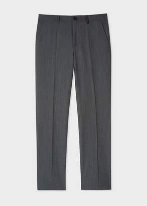 Paul Smith Men's Slim-Fit Navy Flecked-Wool Pants