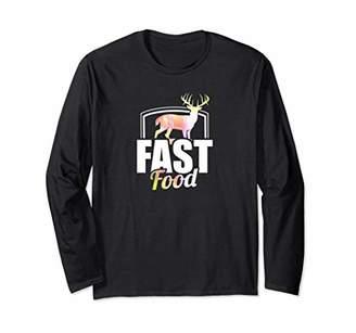 Cute & Funny Fast Food Hunting Deer Long Sleeve T-Shirt
