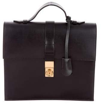 Giorgio Armani Leather Top Handle Satchel