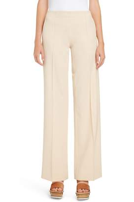Chloé Wide Leg Stretch Wool Trousers
