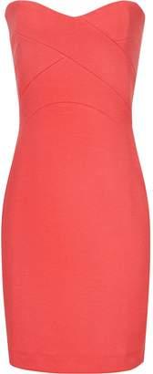 Reiss Miranda - Strapless Bodycon Dress in Lotus Red