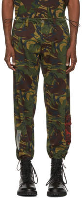 Off-White Multicolor Camouflage Chino Trousers