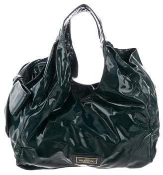 0b071bd1e7254 Pre-Owned at TheRealReal · Valentino Patent Leather Nuage Bag