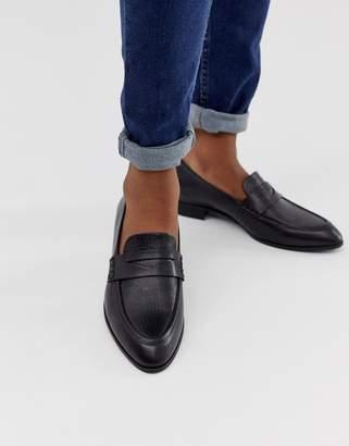 Vagabond black leather loafers