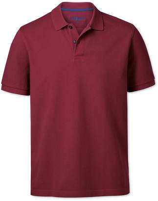 Charles Tyrwhitt Red Pique Cotton Polo Size XL